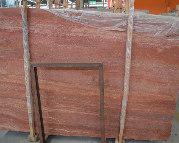 Chinese red travertine limestone slab supplier